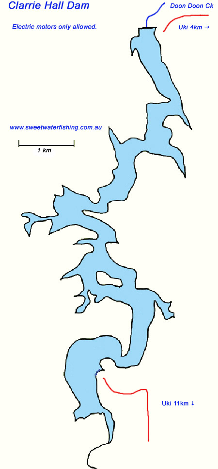 Clarrie Hall Dam Map